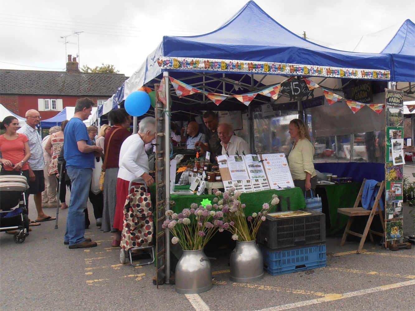 Daylands stall at Steyning farmers' market